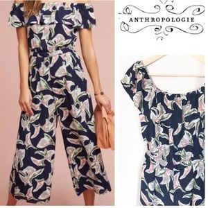 NWT Anthropologie JOA Floral offshoulder jumpsuit